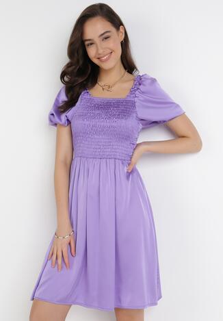 Fioletowa Sukienka Drenlisa