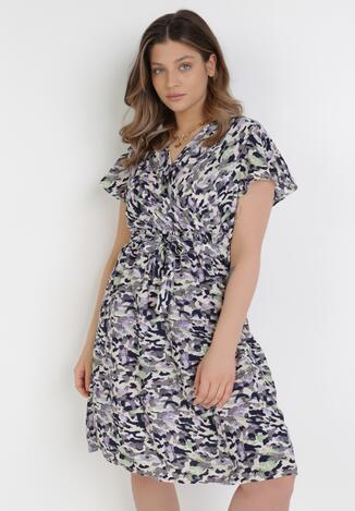 Fioletowa Sukienka Aethegune