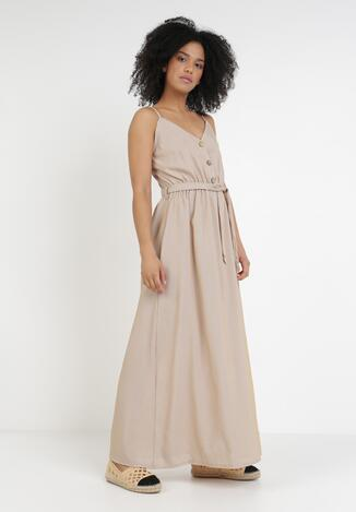 Beżowa Sukienka Vivinah