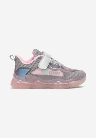 Szaro-Różowe Buty Sportowe Genna