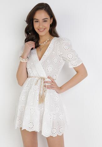 Biała Sukienka Vhesania