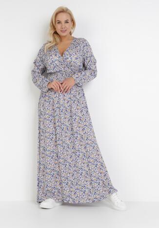 Biało-Niebieska Sukienka Ohirnila