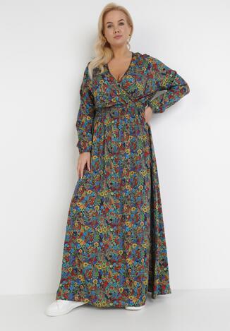 Granatowa Sukienka Kelatai