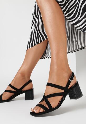 Czarne Sandały Tinlenne