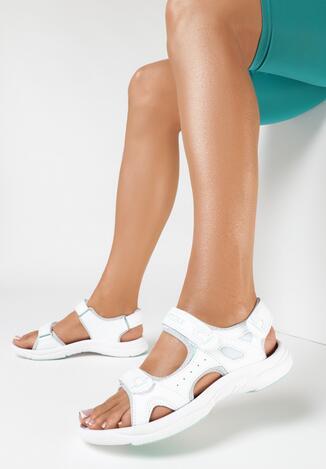 Biało-Miętowe Sandały Zhata