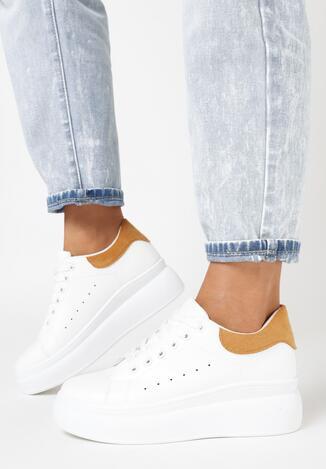Biało-Camelowe Sneakersy Soamaten