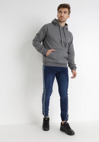 Granatowe Spodnie Joggery Pisirise