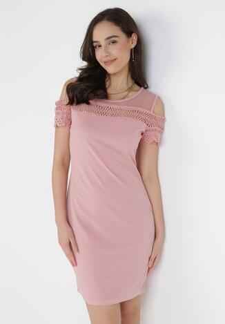 Różowa Sukienka Adrasiphi