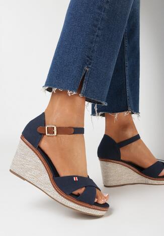 Granatowe Sandały Metigina