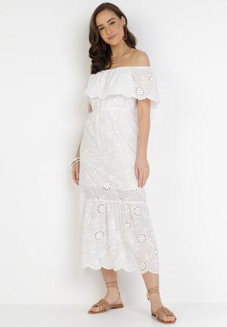Biała Sukienka Pisiliphis