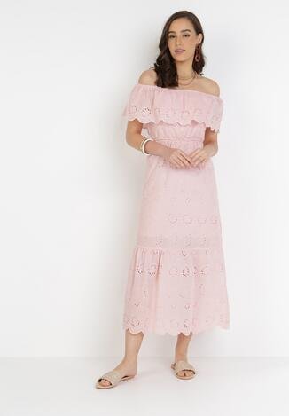 Jasnoróżowa Sukienka Aqialise