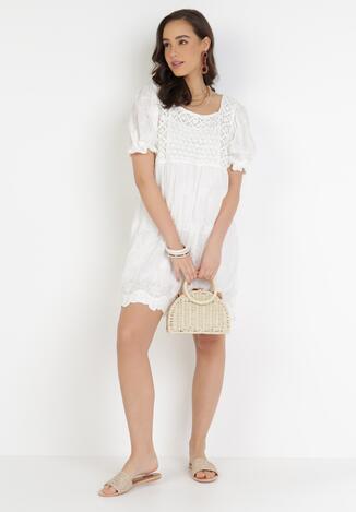 Biała Sukienka Euphethelia