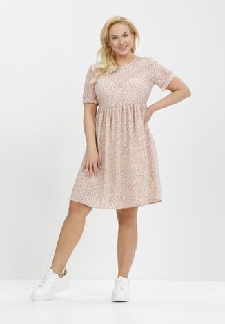 Biało-Różowa Sukienka Orthrasius
