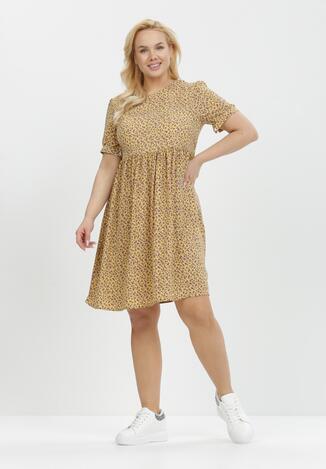 Żółto-Fioletowa Sukienka Orthrasius