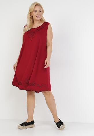 Bordowa Sukienka Alcitheis