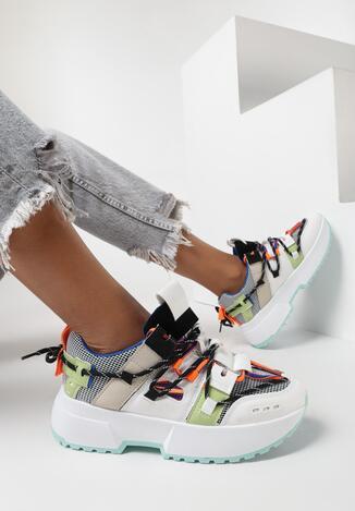 Biało-Niebieskie Sneakersy Kerokeis