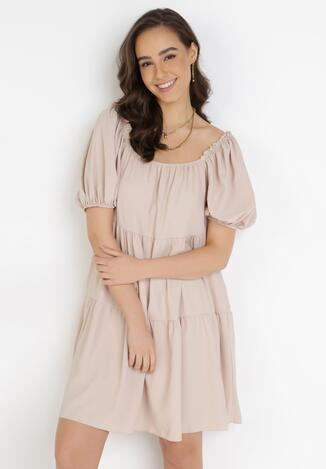 Beżowa Sukienka Adrilila