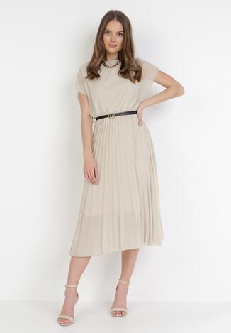 Beżowa Sukienka Naitea