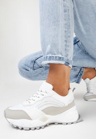 Szare Sneakersy Meleia