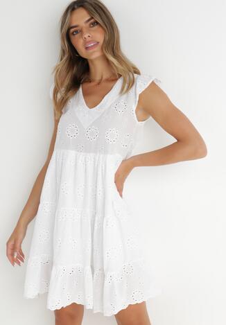 Biała Sukienka Marylyn