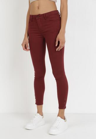 Bordowe Spodnie Laodella