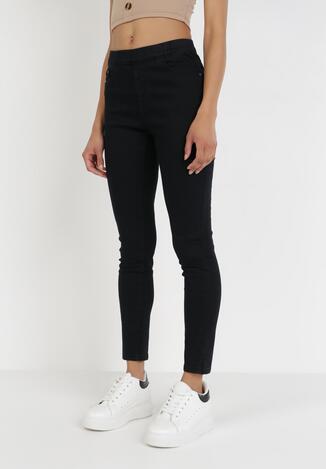 Czarne Spodnie Skinny Loraireida