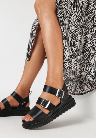 Czarne Sandały Piremis