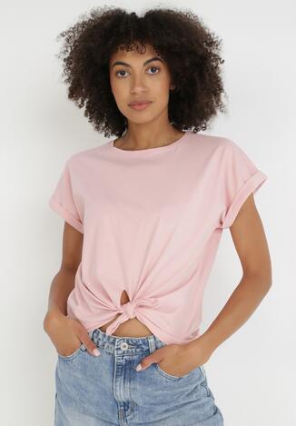 Jasnoróżowy T-shirt Petorise