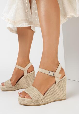 Beżowe Sandały Nyshelia