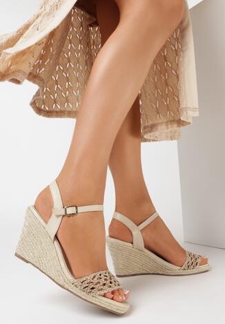 Beżowe Sandały Phaisahria