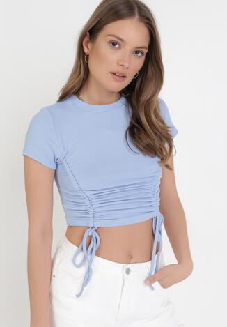 Niebieski T-shirt Zhanora