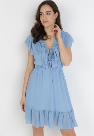 Niebieska Sukienka Ilaleora