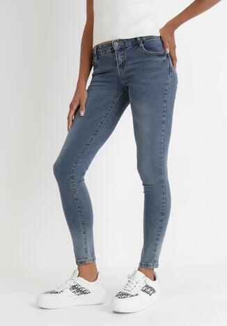 Niebieskie Jeansy Skinny Thanine