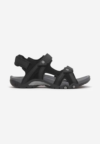 Czarne Sandały Myrithixie