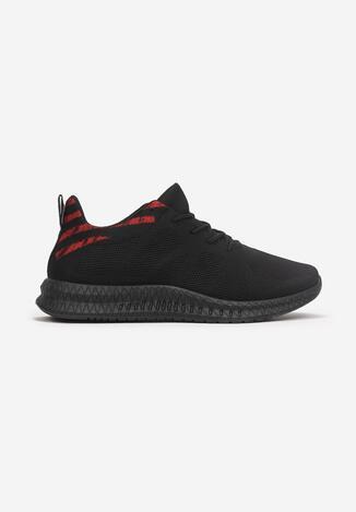 Czarno-Czerwone Buty Sportowe Thelistae