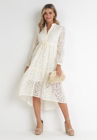 Biała Sukienka Pethelphise
