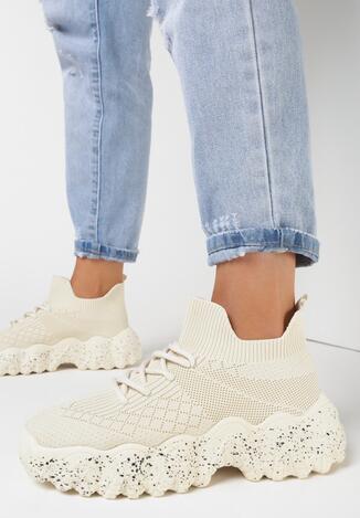 Beżowe Sneakersy Euthiphi