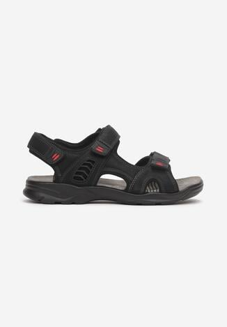 Czarno-Czerwone Sandały Ancilles