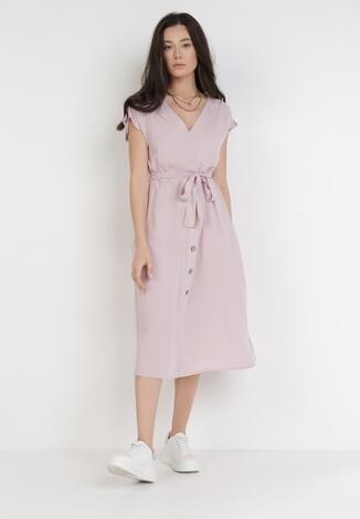 Liliowa Sukienka Amathophise