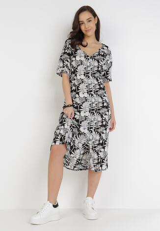 Czarno-Biała Sukienka Cretheosis