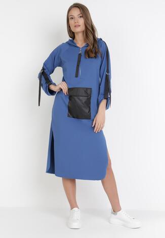 Niebieska Sukienka Idaphiphite