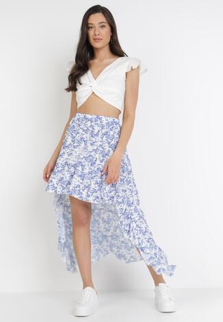 Biało-Niebieska Spódnica Akisone