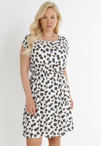 Biała Sukienka Thelallis