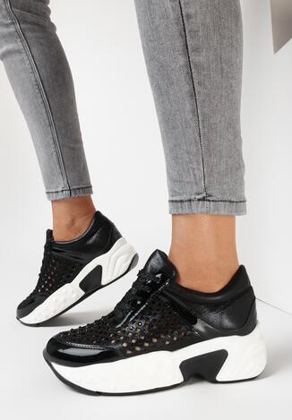 Czarne Sneakersy Lithosi