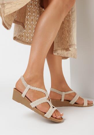Beżowe Sandały Crethiphite