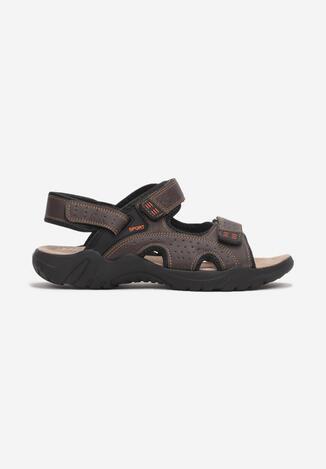 Brązowe Sandały Orphaxise