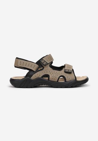 Beżowe Sandały Zeuxthise