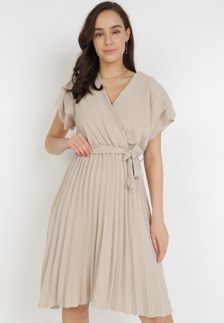 Beżowa Sukienka Theleithe