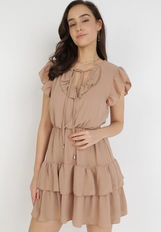 Jasnobrązowa Sukienka Ciroche