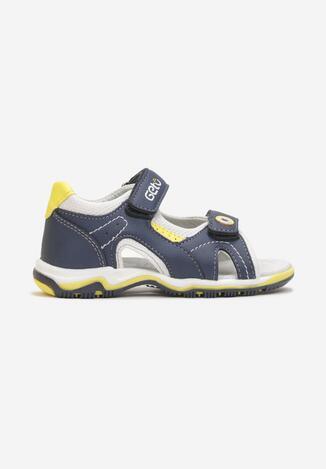Granatowo-Żółte Sandały Ashephia